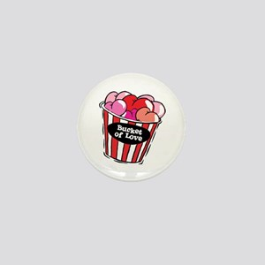 Funny Bucket of Love Design Mini Button