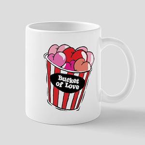 Funny Bucket of Love Design Mug