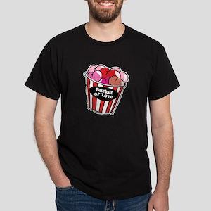 Funny Bucket of Love Design Dark T-Shirt