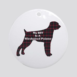 BFF Wirehaired Pointer Ornament (Round)