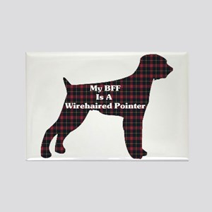 BFF Wirehaired Pointer Rectangle Magnet (10 pack)