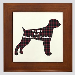 BFF Wirehaired Pointer Framed Tile