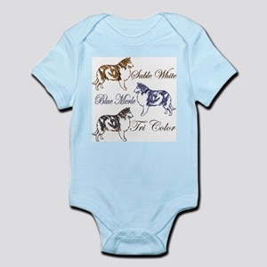 Three Collie Colors Infant Creeper