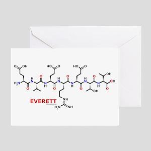 Everett name molecule Greeting Card