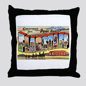 Flagstaff Arizona Greetings Throw Pillow