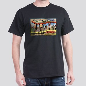 Flagstaff Arizona Greetings (Front) Dark T-Shirt