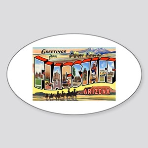 Flagstaff Arizona Greetings Oval Sticker