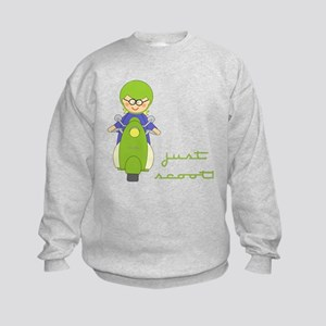 Just Scoot-Scooter Lover Gear Kids Sweatshirt
