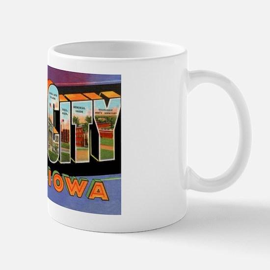 Iowa City Iowa Greetings Mug