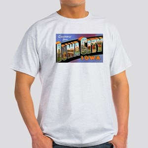 Iowa City Iowa Greetings (Front) Light T-Shirt