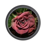 Castera Rose Wall Clock with Numbers