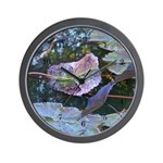Water Lily Leaves Wall Clock