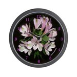 Alstromeria with Numbers - Wall Clock