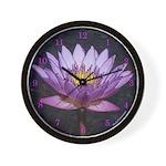 Tropical Water Lily Photo Drawing - Wall Clock