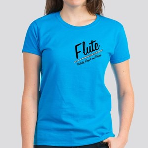 Flute Pocket Image Women's Dark T-Shirt