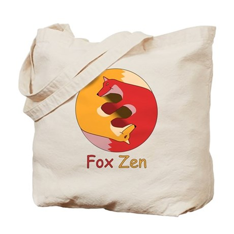 Fox Zen (Yin & Yang) Tote Bag