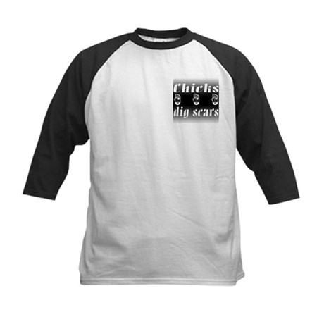 Chicks Dig Scars and Pirates Kids Baseball Jersey