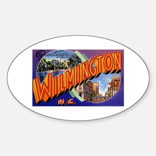 Wilmington North Carolina Greetings Oval Decal