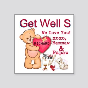 Get Well Soon Personalize Sticker