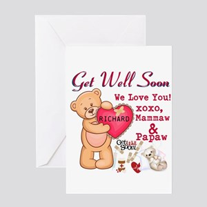 Get Well Soon Personalize Greeting Cards