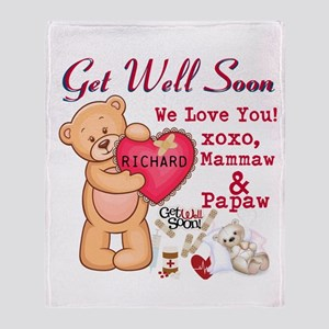 Get Well Soon Personalize Throw Blanket