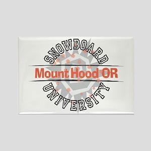 Snowboard Mt. Hood OR Rectangle Magnet
