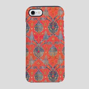 Blue Leaves Antique Floral iPhone 8/7 Tough Case
