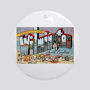 Wilmington North Carolina Greetings Ornament (Roun