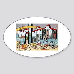 Wilmington North Carolina Greetings Oval Sticker