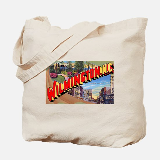 Wilmington North Carolina Greetings Tote Bag