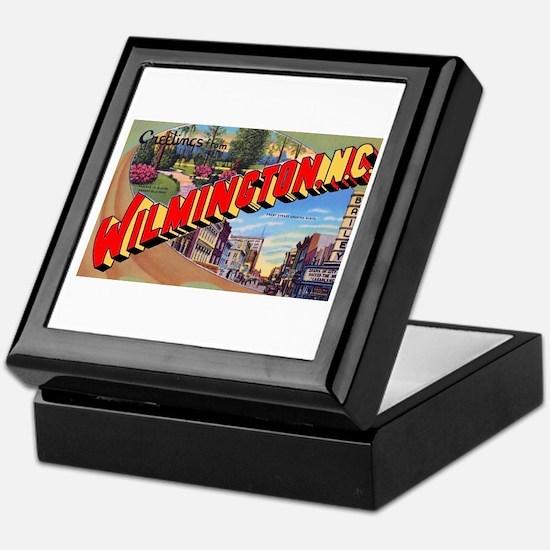 Wilmington North Carolina Greetings Keepsake Box