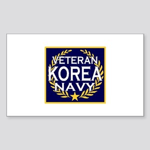 NAVY VETERAN KOREA Rectangle Sticker