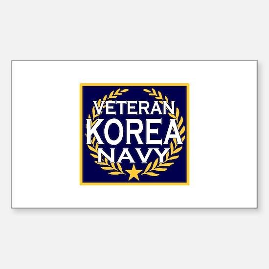 NAVY VETERAN KOREA Rectangle Decal