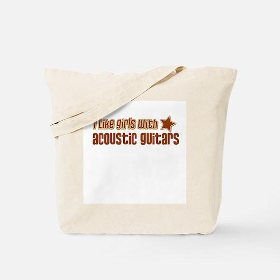 I Like Girls with Acoustic Gu Tote Bag