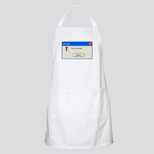 You're screwed error message BBQ Apron