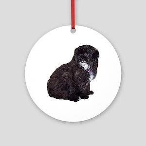 Shih Poo Ornament (Round)