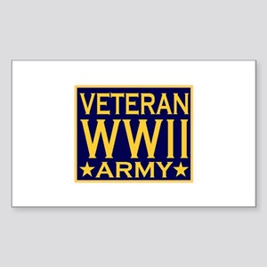 ARMY VETERAN WW II Rectangle Sticker