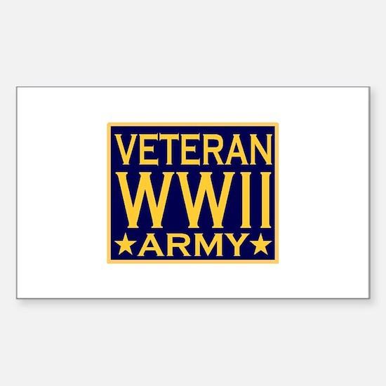ARMY VETERAN WW II Rectangle Decal