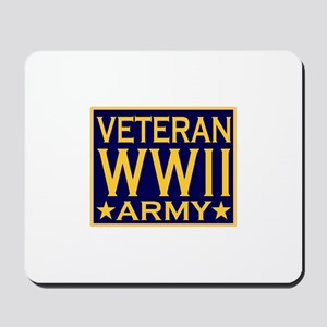 ARMY VETERAN WW II Mousepad
