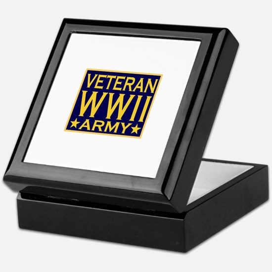 ARMY VETERAN WW II Keepsake Box