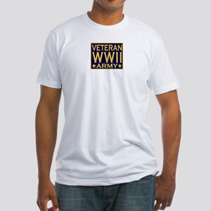 ARMY VETERAN WW II Fitted T-Shirt