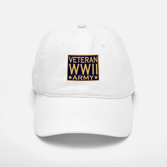 ARMY VETERAN WW II Baseball Baseball Cap