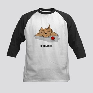 Chillaxin' Dog Kids Baseball Jersey
