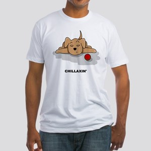 Chillaxin' Dog Fitted T-Shirt