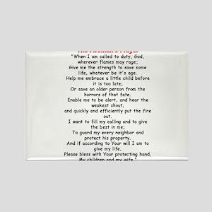 Fireman's Prayer Rectangle Magnet