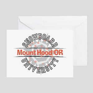 Snowboard Mt. Hood OR Greeting Card