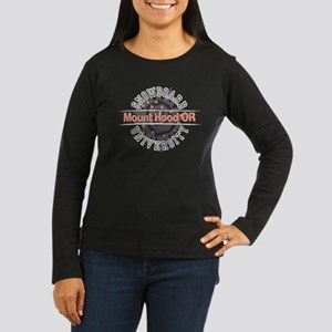 Snowboard Mt. Hood OR Women's Long Sleeve Dark T-S