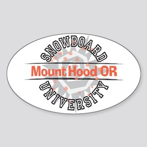 Snowboard Mt. Hood OR Oval Sticker