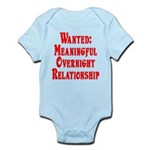 Wanted: Meaningful overnight Infant Bodysuit