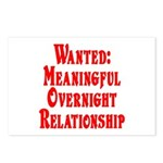 Wanted: Meaningful overnight Postcards (Package o